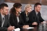 Businesswoman on business seminar